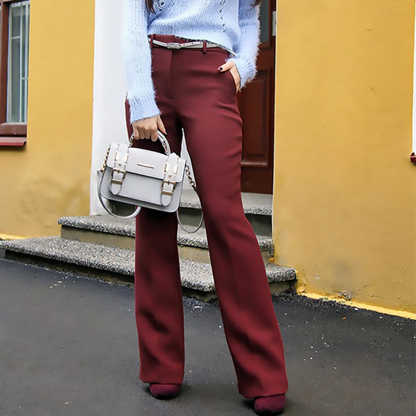 marsala flarez outfit