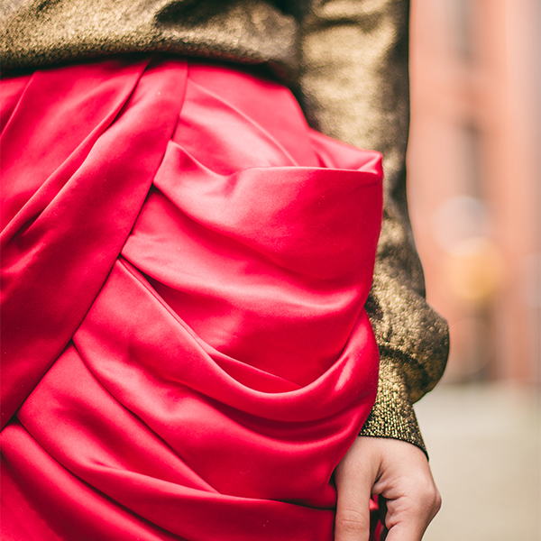 Balmaination red skirt