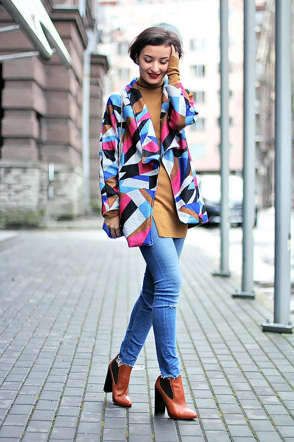 printed jacket romwe