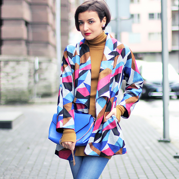 Romwe printed jacket square