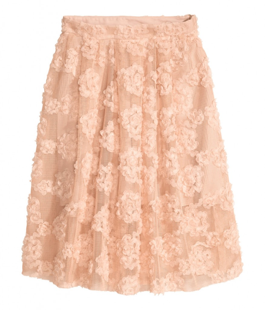 H&M skirt with chiffon flowers