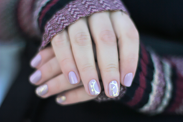 newsboy cap nail art