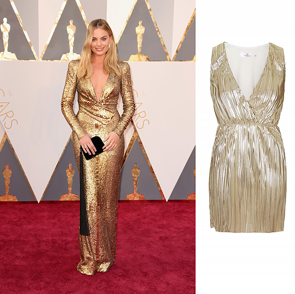 Margot Robbie in Tom Ford and The Row clutch.