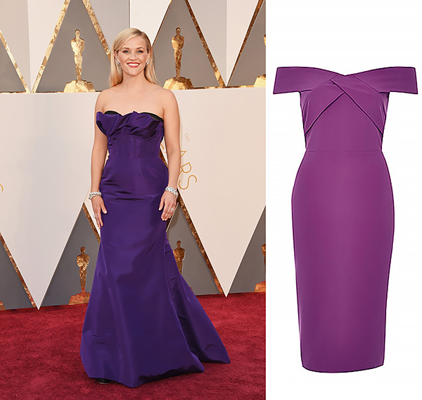 REESE WITHERSPOON In Oscar de la Renta and Tiffany & Co. jewelry.