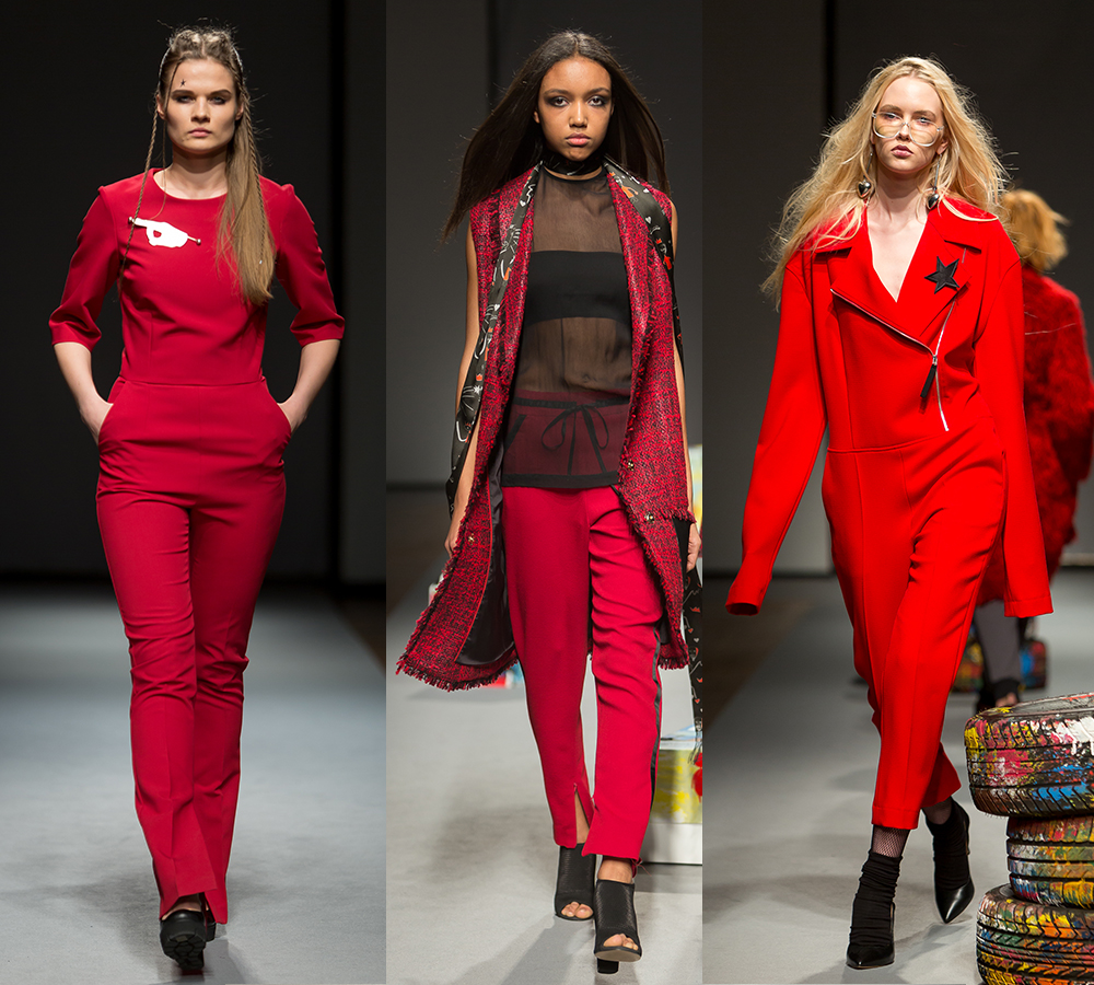 all red Riga Fashion Week 2016