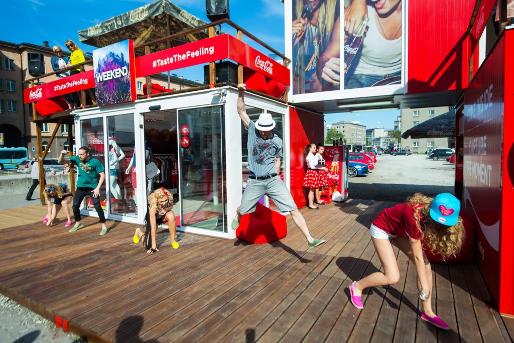Coca Cola pop up store Tallinn