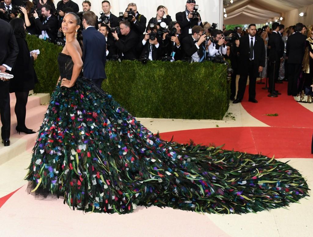 Zoe Saldana in Golce&Gabbana