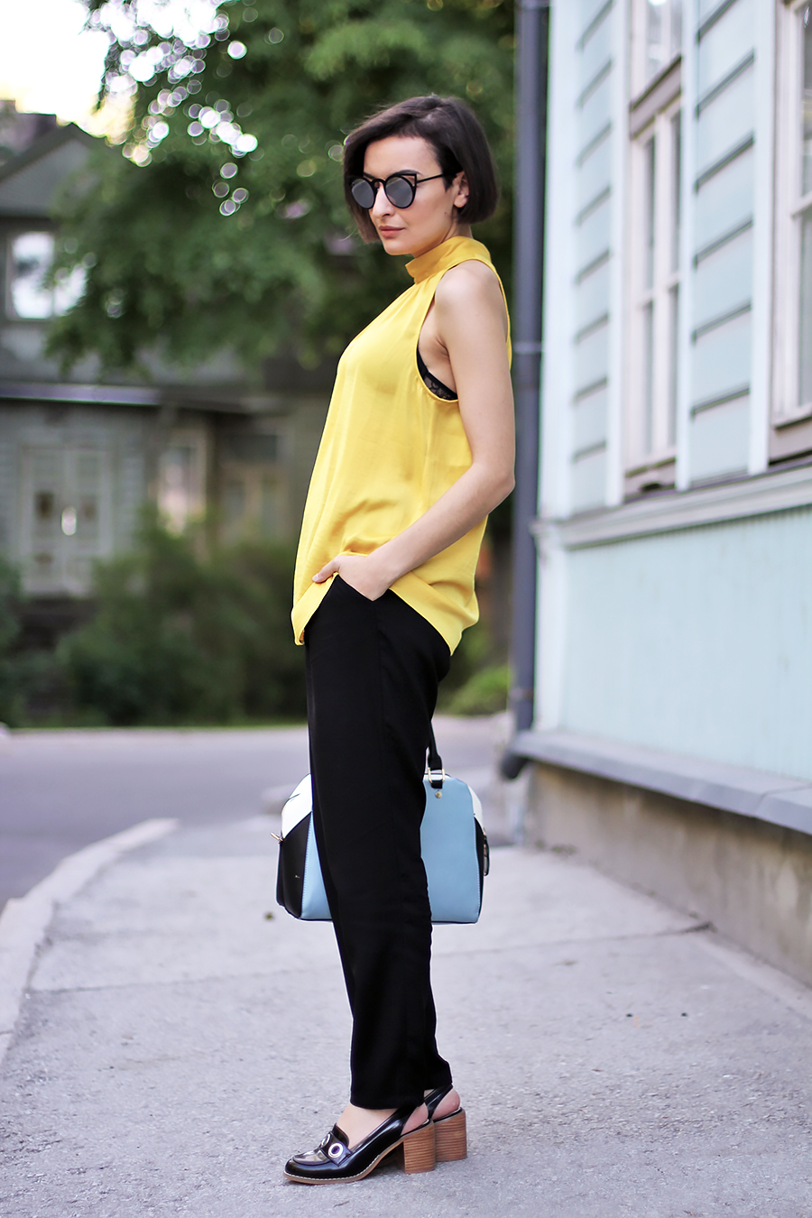 yellow black outfit 2