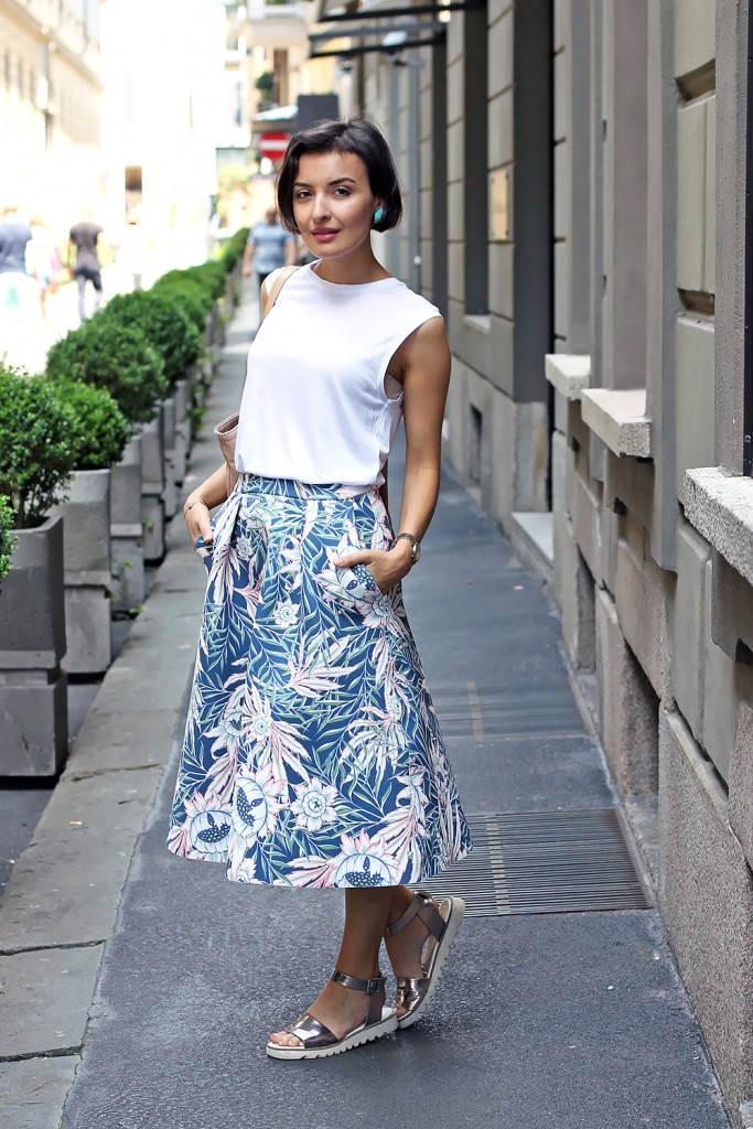 Floral skirt milan 1