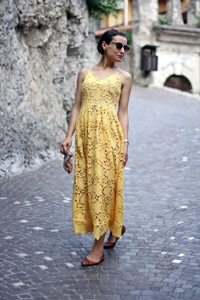 Yellow Lace Dress 1