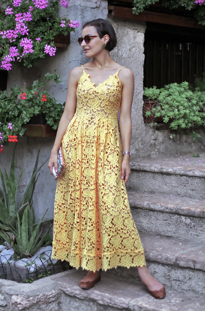 Yellow Lace Dress 2