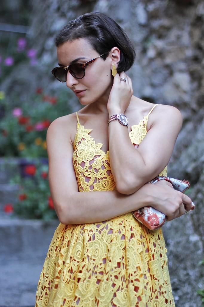 Yellow Lace Dress 5