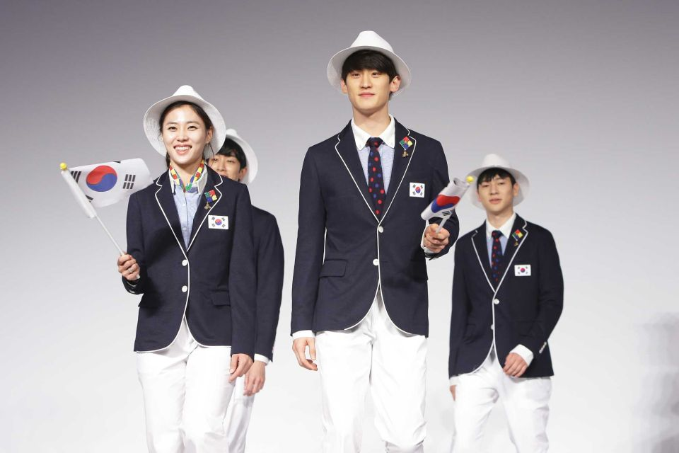 South Korea uniform Olympics Rio 2016