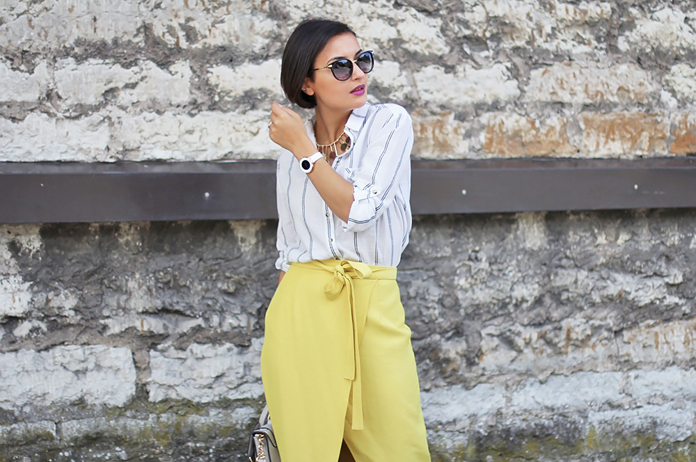 Yellow skirt white shirt 6
