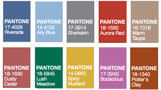 Fall 2016 Pantone Colors