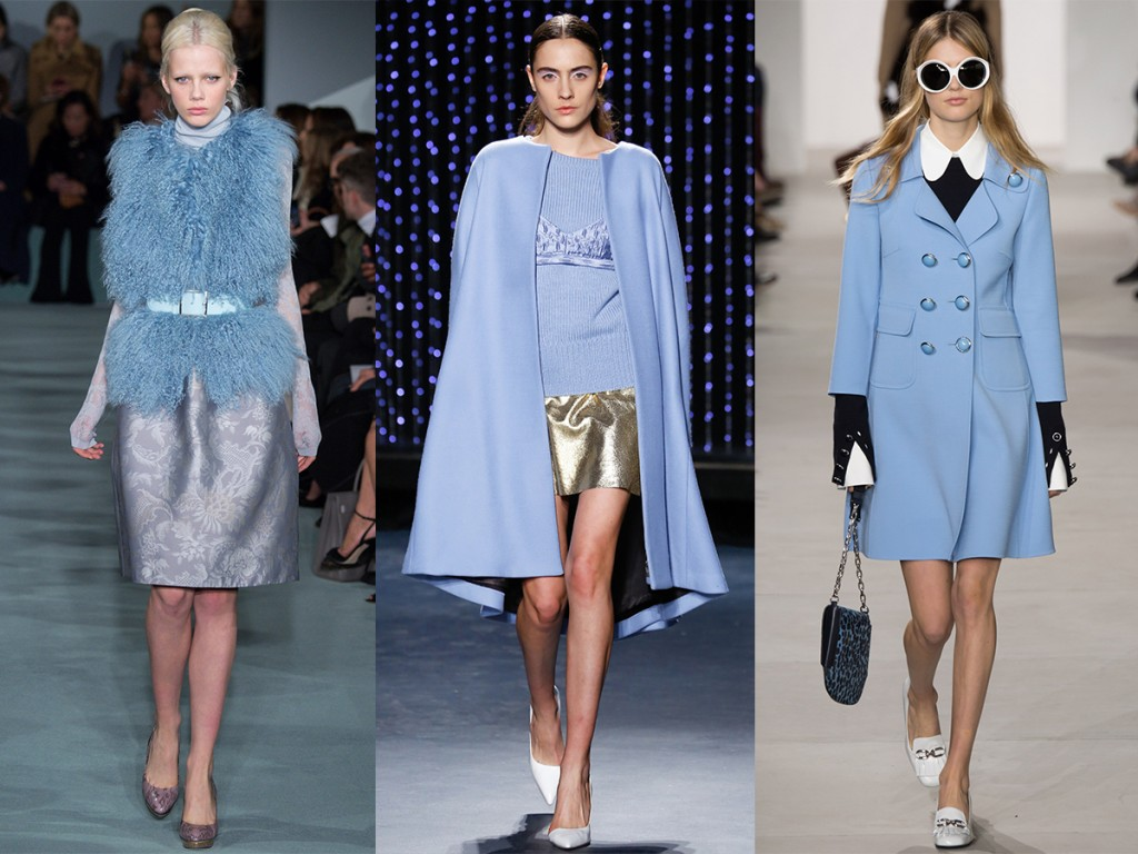 pale blue catwalk