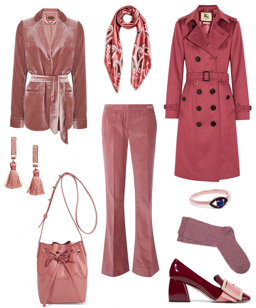 pale red color trend 2016