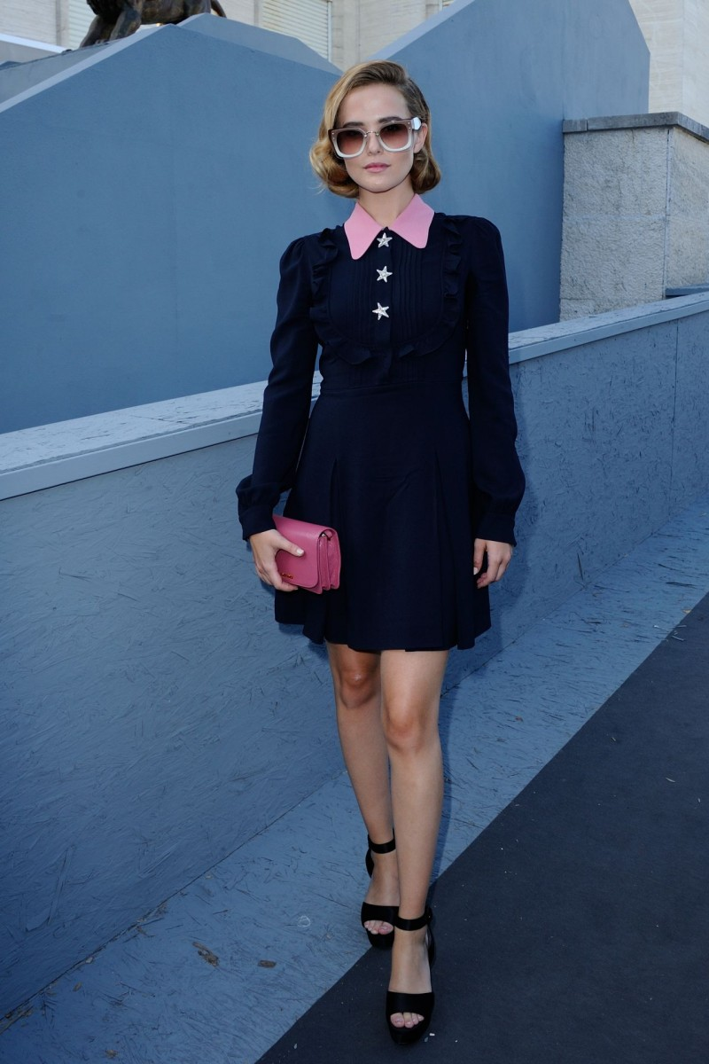 Zoey Deutch in Miu Miu