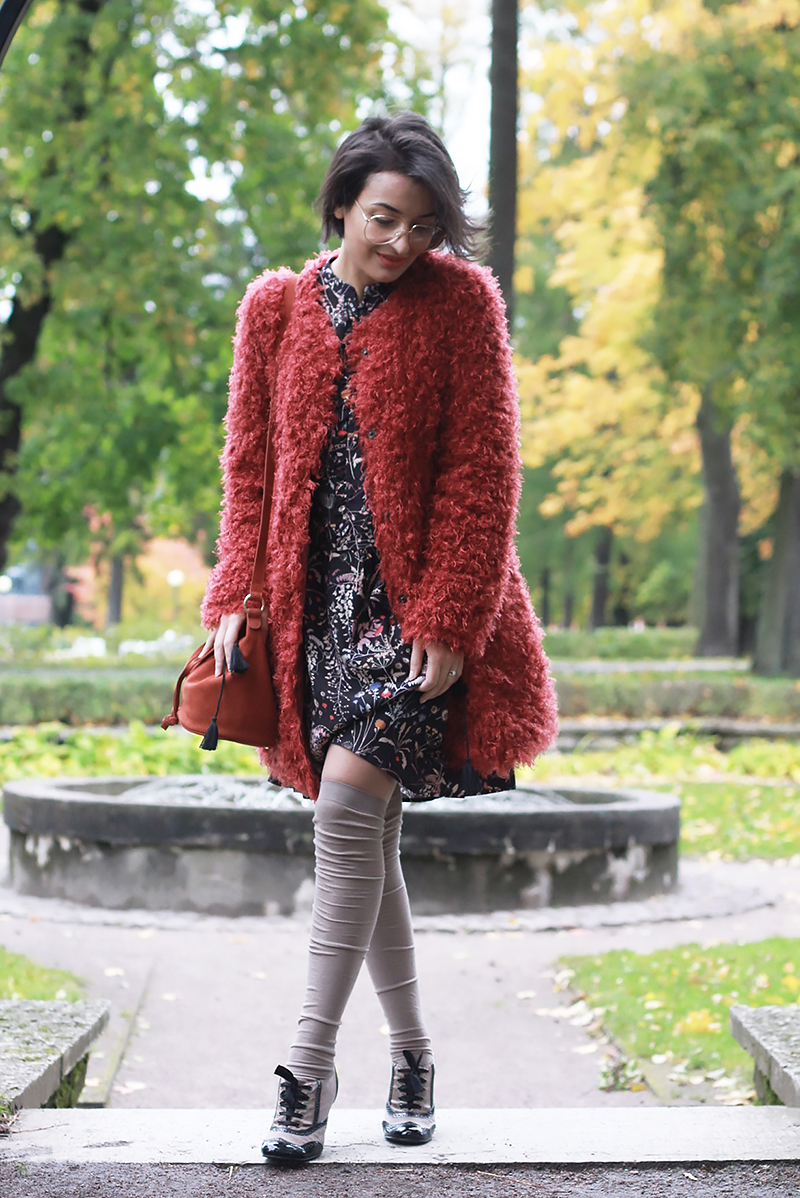 furry faux fur coat