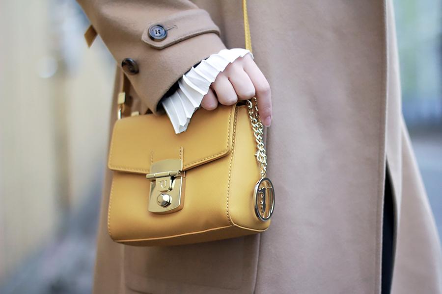 trussardi yellow coat