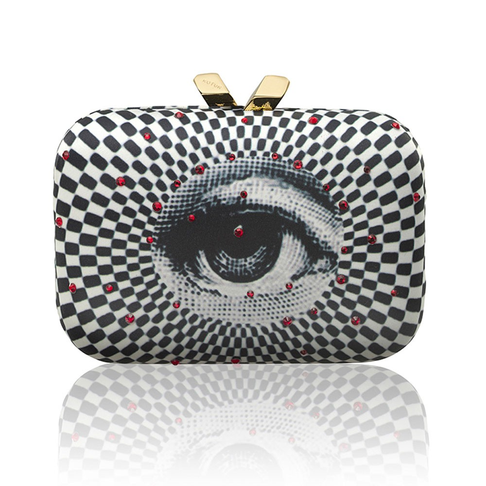 Morley Printed Satin Eye Swarovski Crystals
