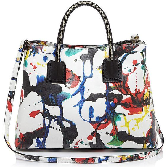 The Milly Splatter Paint Satchel Spring 2015