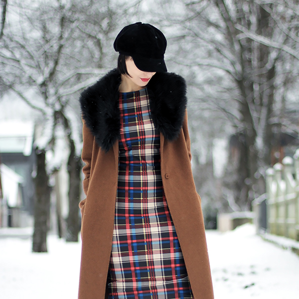Winter camel coat