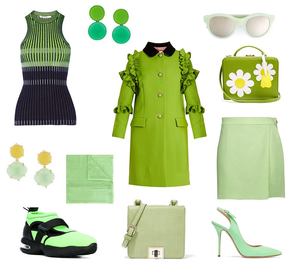 greenery bold colors