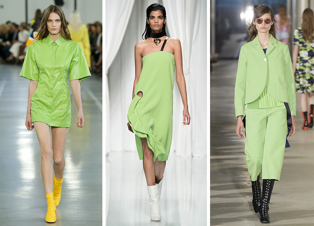 greenery with bold colors