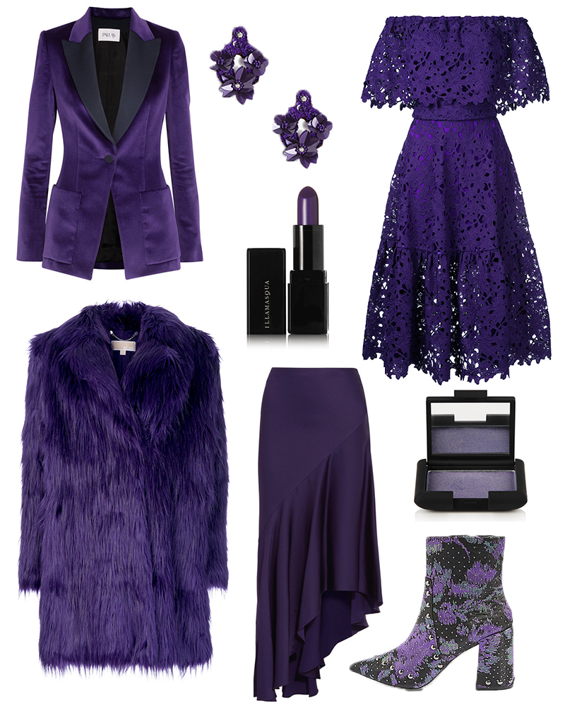 purple shades of clothes