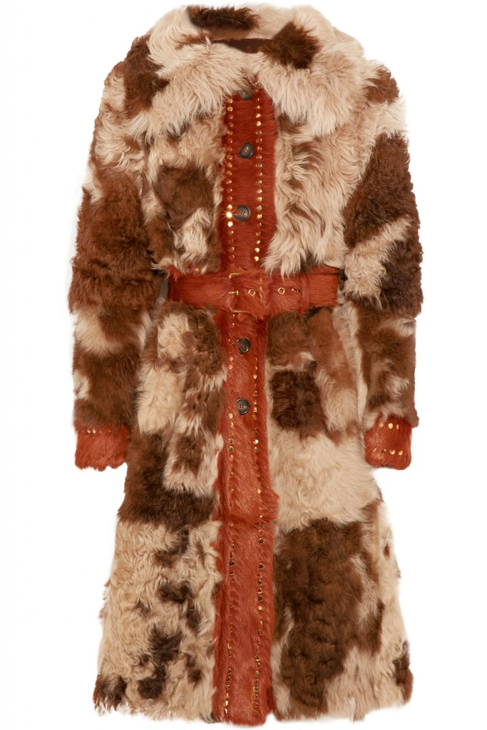 PRADA Studded shearling coat €6,500