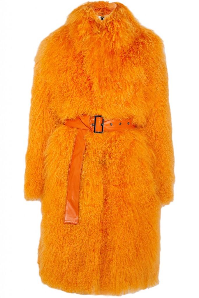 SAKS POTTS Rosti belted shearling coat €1,150