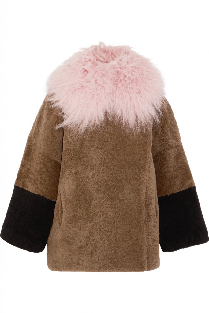 SAKS POTTS Suz color-block shearling coat €1,060
