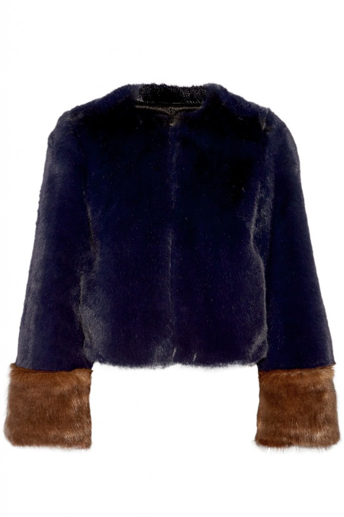 STAUD Juliette two-tone faux fur coat€686