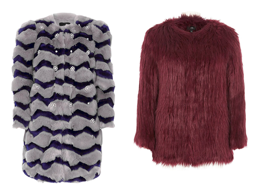 river island faux fur