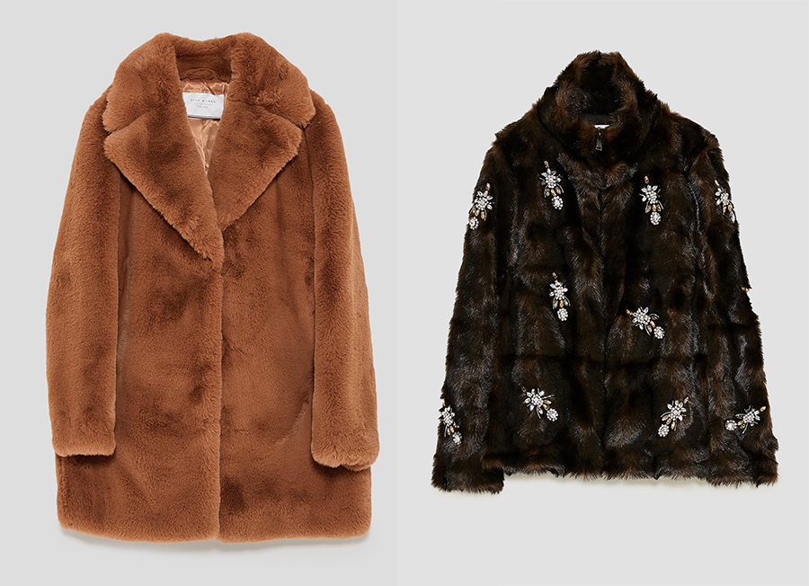 zara faux fur