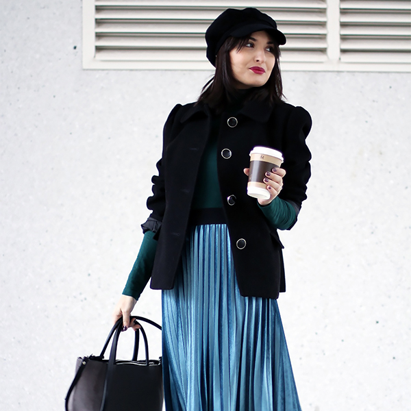 Emerald winter outfit