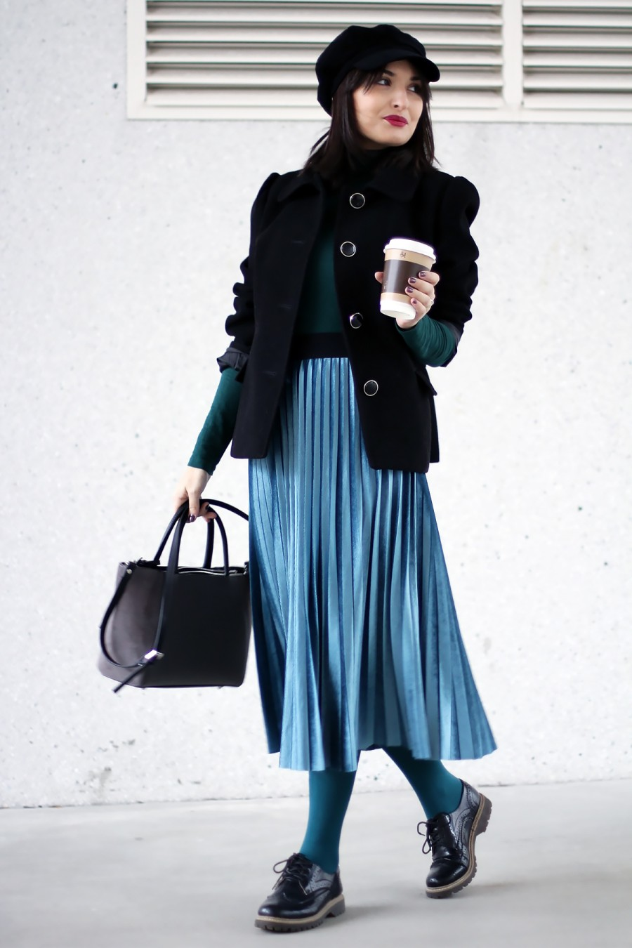 Emerald winter outfit 1