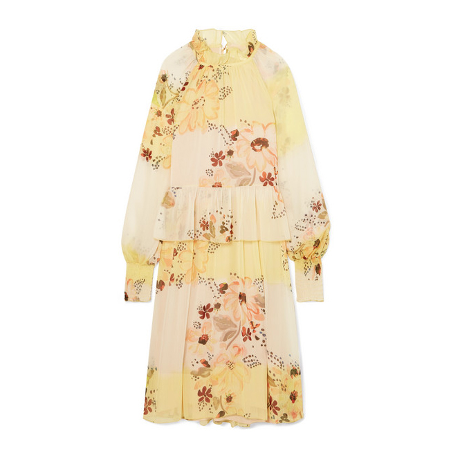 SEE BY CHLOÉ Tiered floral-print georgette dress€390