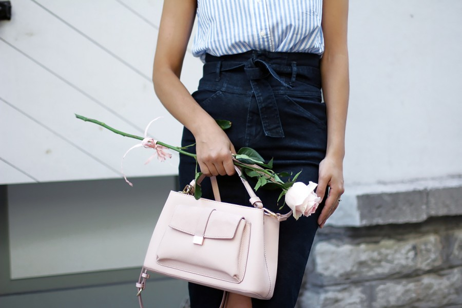 Navy Denim x Old Rose outfit 2