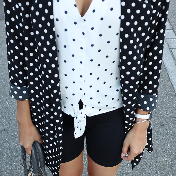 Dotted outfit x cyclong shorts