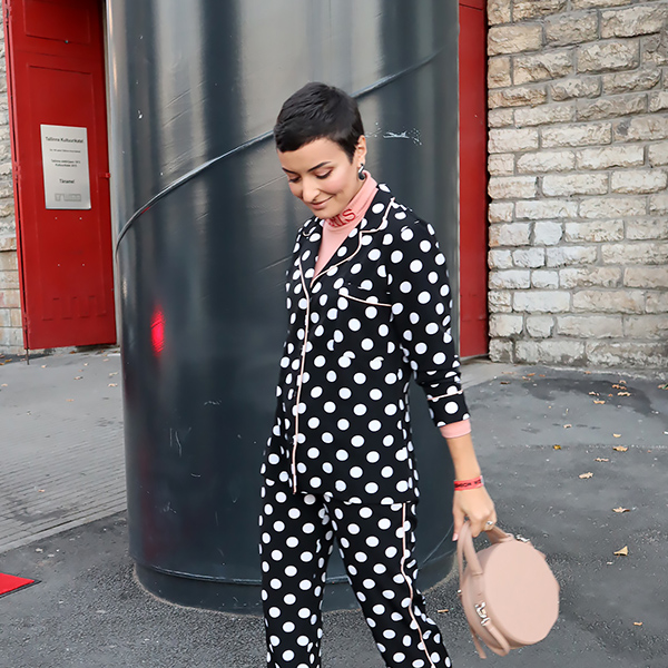 Dotted pajama outfit