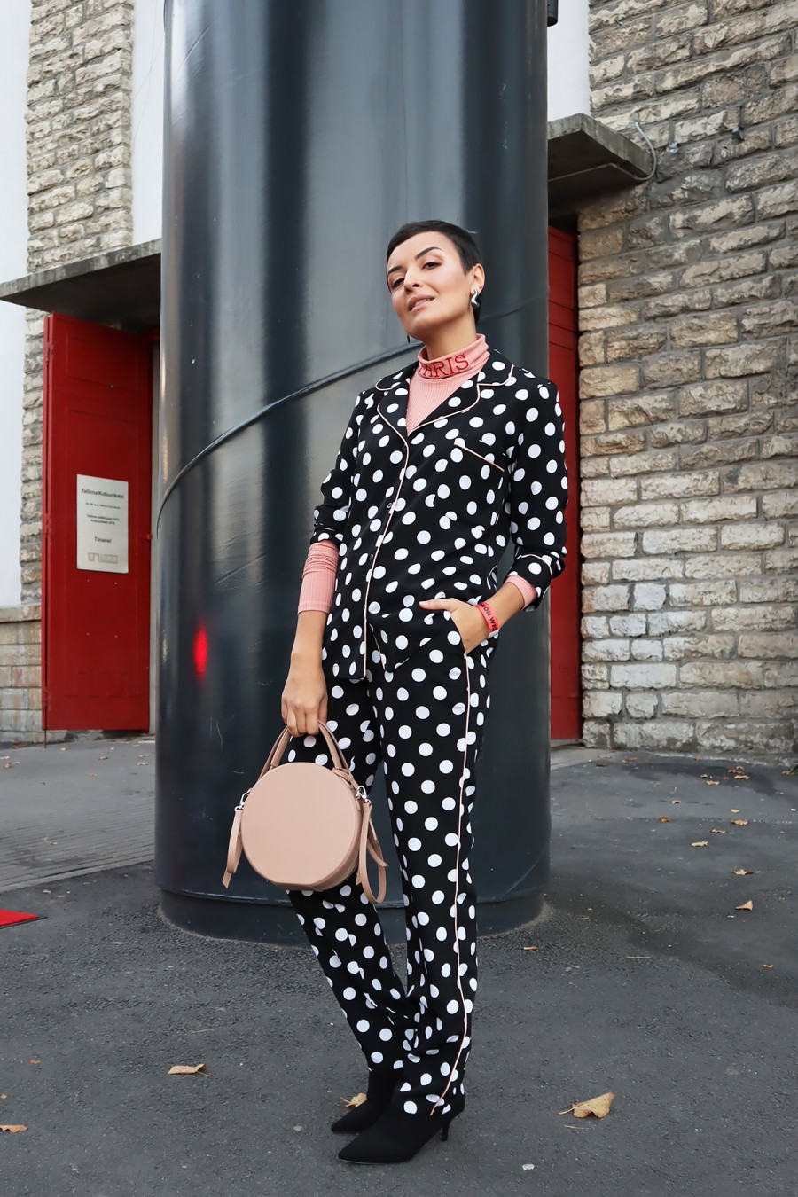 Dotted pajama outfit 2
