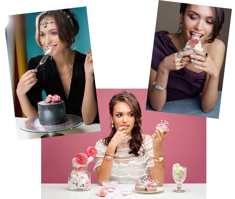 Jewekkery cakes photoshoot