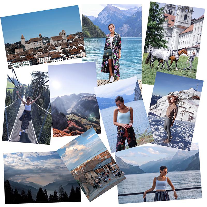 Lucine exploring Switzerland