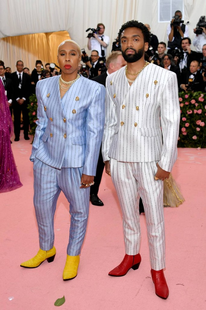 Lena Waithe and Kerby Jean-Raymond wearing Pyer Moss