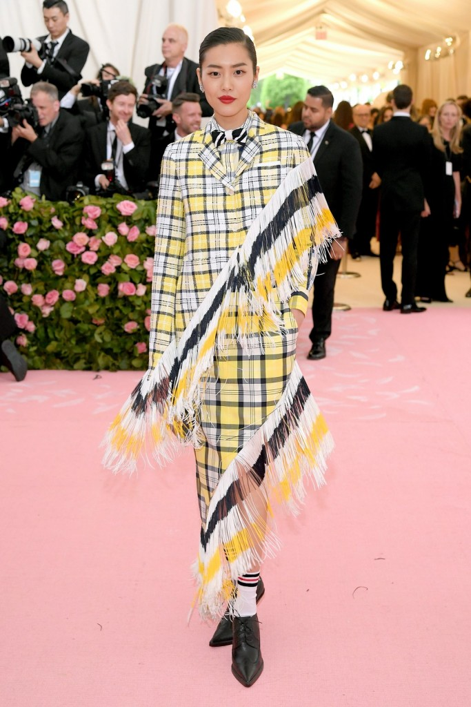 Liu Wen wearing Thom Browne